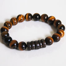 Men's Bracelets - Men's Jewelry - Men's Tiger Eye and Bronzonite
