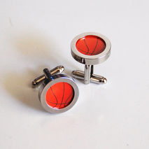 Basket ball Cufflinks- Men's Cuff links - Men's jewelry-- Photo