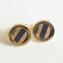 Men's Cuff links - Men's jewelry-- Photo Cuff Links- Gold Plated