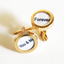 Men's Cuff links - Men's jewelry-- 'You & me ' Cufflinks-Photo C