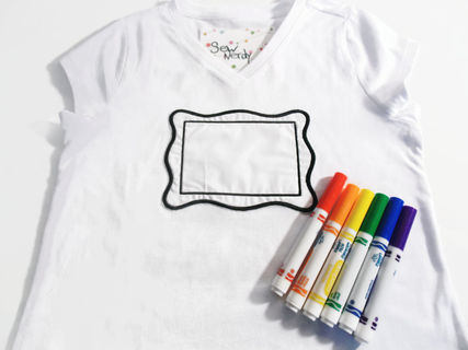 Color Your Own Shirt Embroidered Frame To Design Color