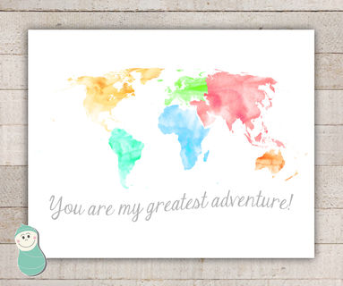 World map art oh the places youll go life with peanut pinklion world map art oh the places youll go gumiabroncs Images