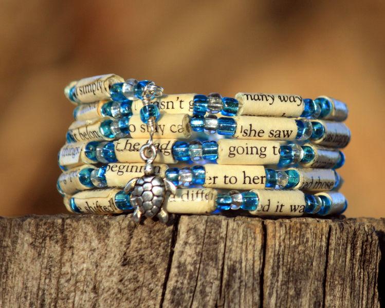 the last song paper bead bracelet spiral wrap bracelet