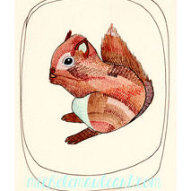 Little Squirrel - 8x10 Print