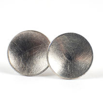 Silver Scratched Studs
