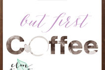 But First Coffee Print/ Typography Decor/Kitchen Decor