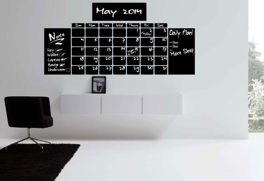 Chalkboard Calendar Canada : Calender