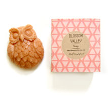 Pink Grapefuit & French Pink Clay Owl Soap