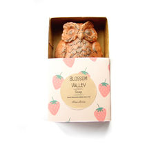 Strawberry & French Pink Clay Owl Soap