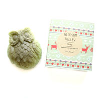 Woodland & French green clay Owl Soap