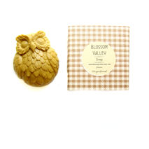 Warm Gingerbread & French yellow clay Owl Soap
