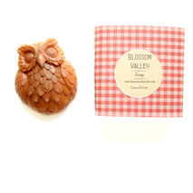 Cranberry & French pink clay Owl Soap