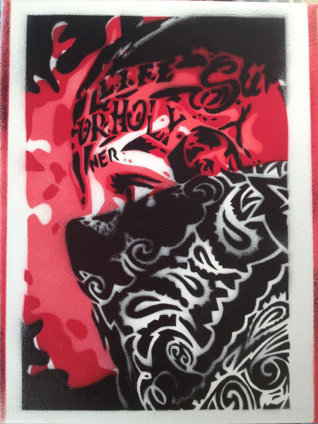 Painting Of Bandana Gangsters Stencils Amp Spraypaints On
