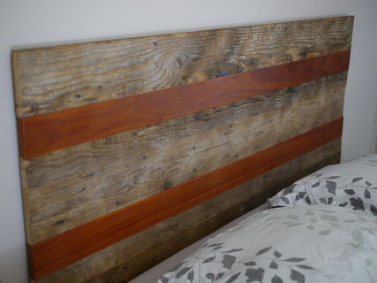 rustic reclaimed wood headboard queen what if designs pinklion. Black Bedroom Furniture Sets. Home Design Ideas