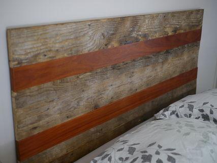 Rustic Reclaimed wood headboard, queen - Rustic Reclaimed Wood Headboard, Queen - What If... Designs - PinkLion