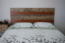 Rustic Reclaimed wood headboard, queen