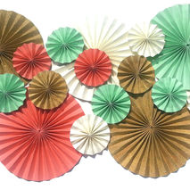 "16 Pinwheels sized 12"" and 6"" CHOOSE YOUR COLORS Event Decor"