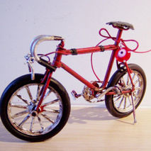 Red racing bicycle