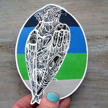 Zentangle Seahawk Sticker Waterproof Decal