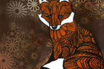 Zentangle Fox Art Print - Archival Limited Edition