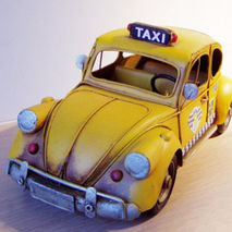 Yellow cab miniature