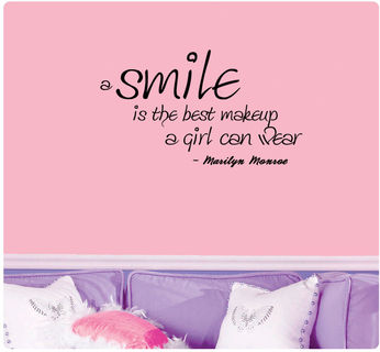 Marilyn Monroe Quote A Smile Is The Best Makeup A Girl Can Wear