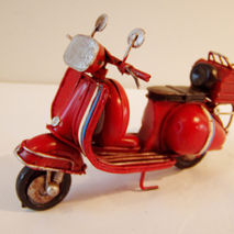 Red Vespa miniature