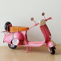 Pink Vespa scooter miniature