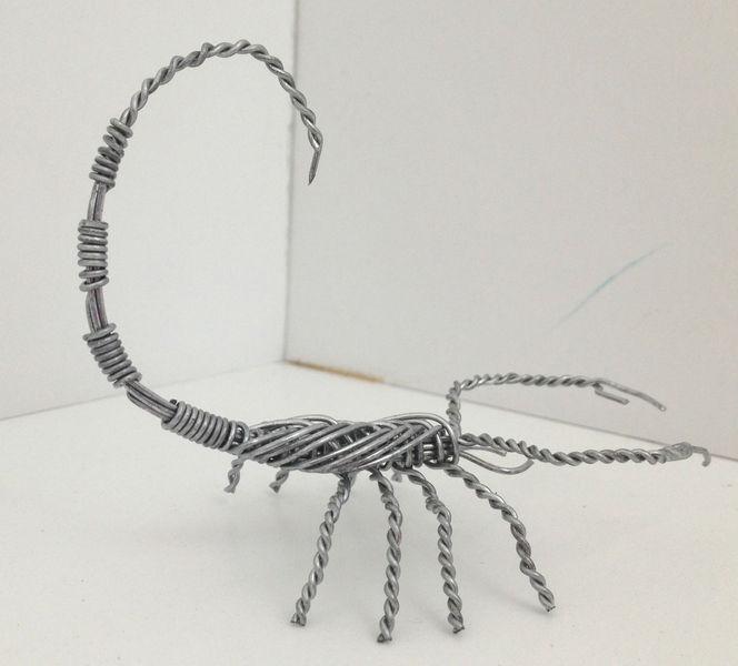 Scorpion sculpture. Weaved out of galvanized steel wire - Zenda ...