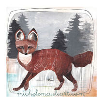 Winter Fox - 8x10 Print