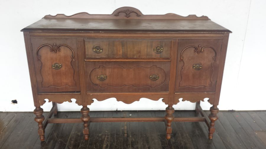 Antique Sideboard Server Buffet Brielity Pinklion