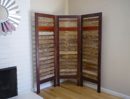 Room Divider Parion Made From Reclaimed Wood