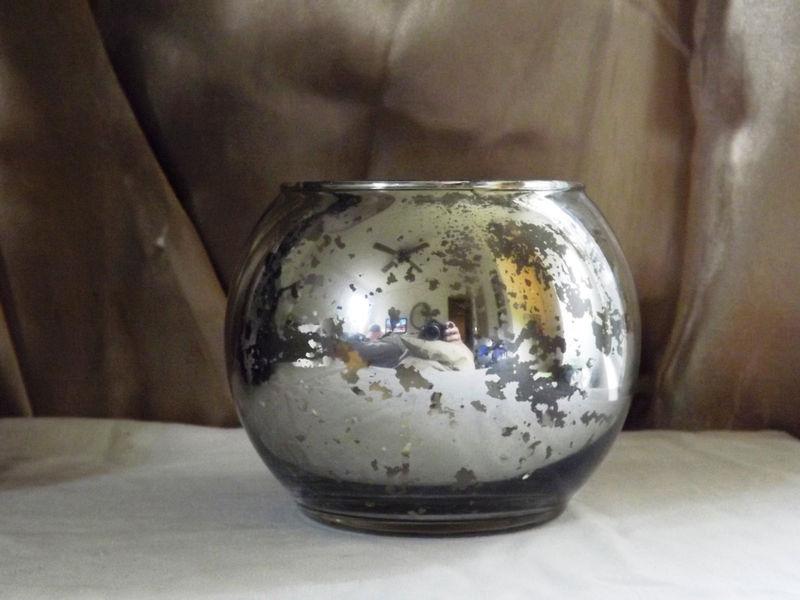 Round Mercury Glass Vase Candle Holder Wedding Vases