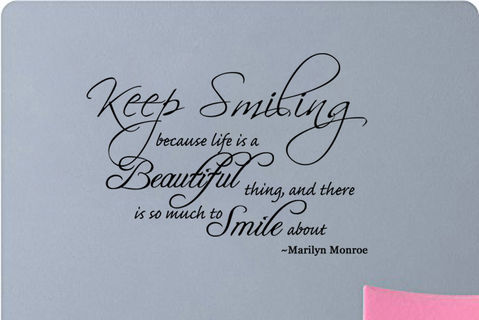 Marilyn Monroe Quote Keep Smiling Because Life Is A Beautiful T