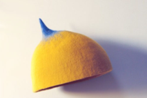 Wool Felt Hat -YELLOW/BLUE tip - UFO collection