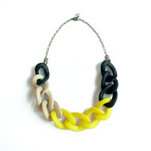 Black & Yellow Chain Link Necklace