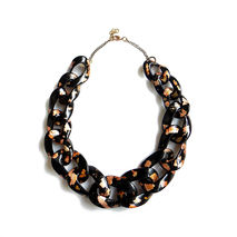 Black Gold Chunky Chain Necklace, Oversized Chain Necklace