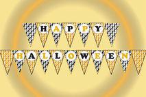 graphic regarding Happy Halloween Banner Printable known as Pleased halloween banner, Halloween printable banner,Celebration banner,