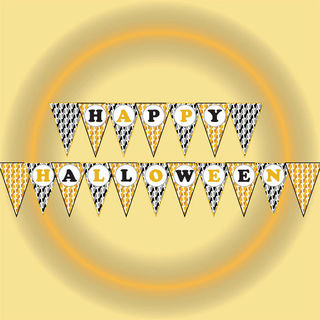 image about Halloween Banner Printable referred to as Pleased halloween banner, Halloween printable banner,Celebration banner,