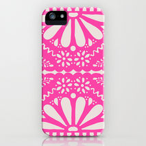 iPhone Samsung Phone Case Pink Papel Picado Fiesta