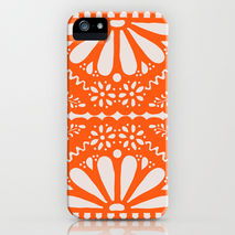 iPhone Samsung Phone Case Orange Papel Picado Fiesta
