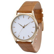 Rose Gold Watch White