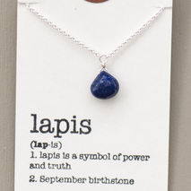 September Birthstone Necklace, Lapis