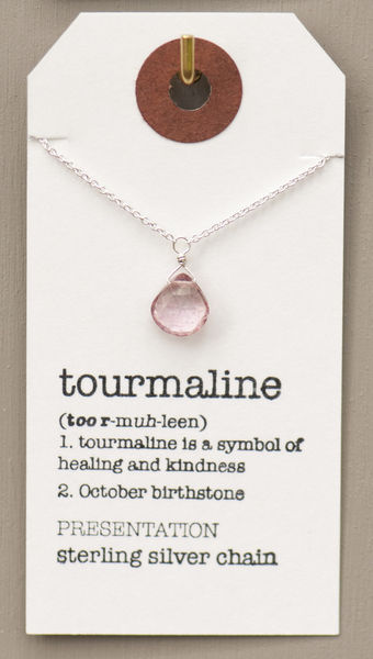 October Birthstone Necklace, Tourmaline - Britta Ambauen ...