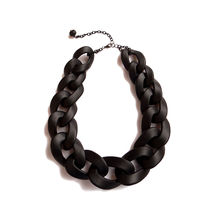 Black Oversized Chain Necklace,Chunky Chain Polymer Necklace