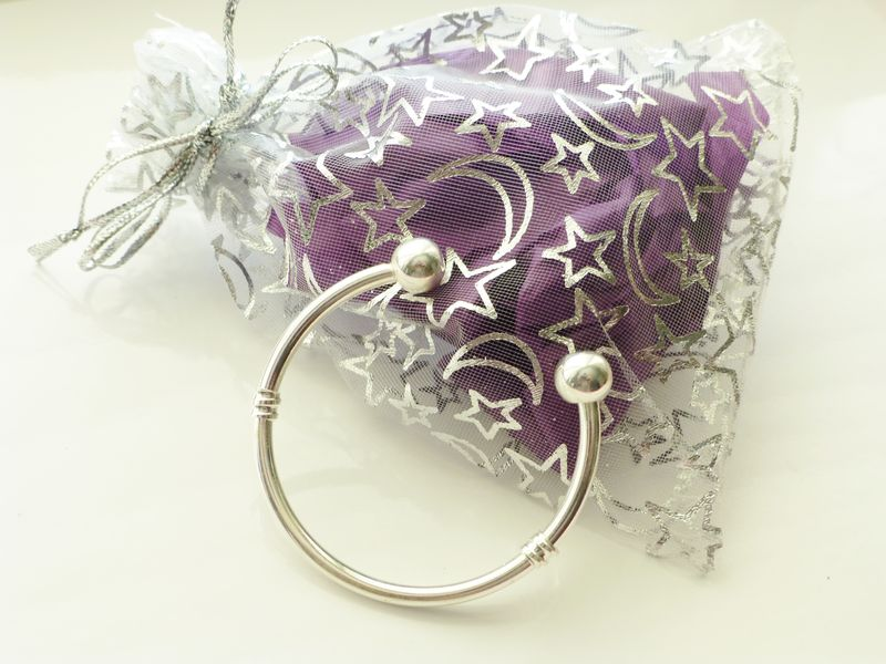 Baby Bangle Gift Box : Baby torque bangle boys in gift pouch or box jewls