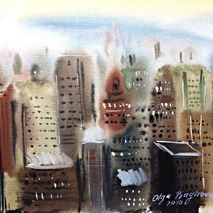 NY City, Watercolor painting
