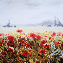 Poppies. Watercolor Art