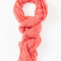Coral Knit Scarf