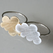 Double Clouds-Double Finger Ring